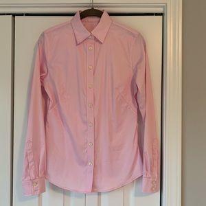Banana Republic Pink Long Sleeve Dress Shirt 6
